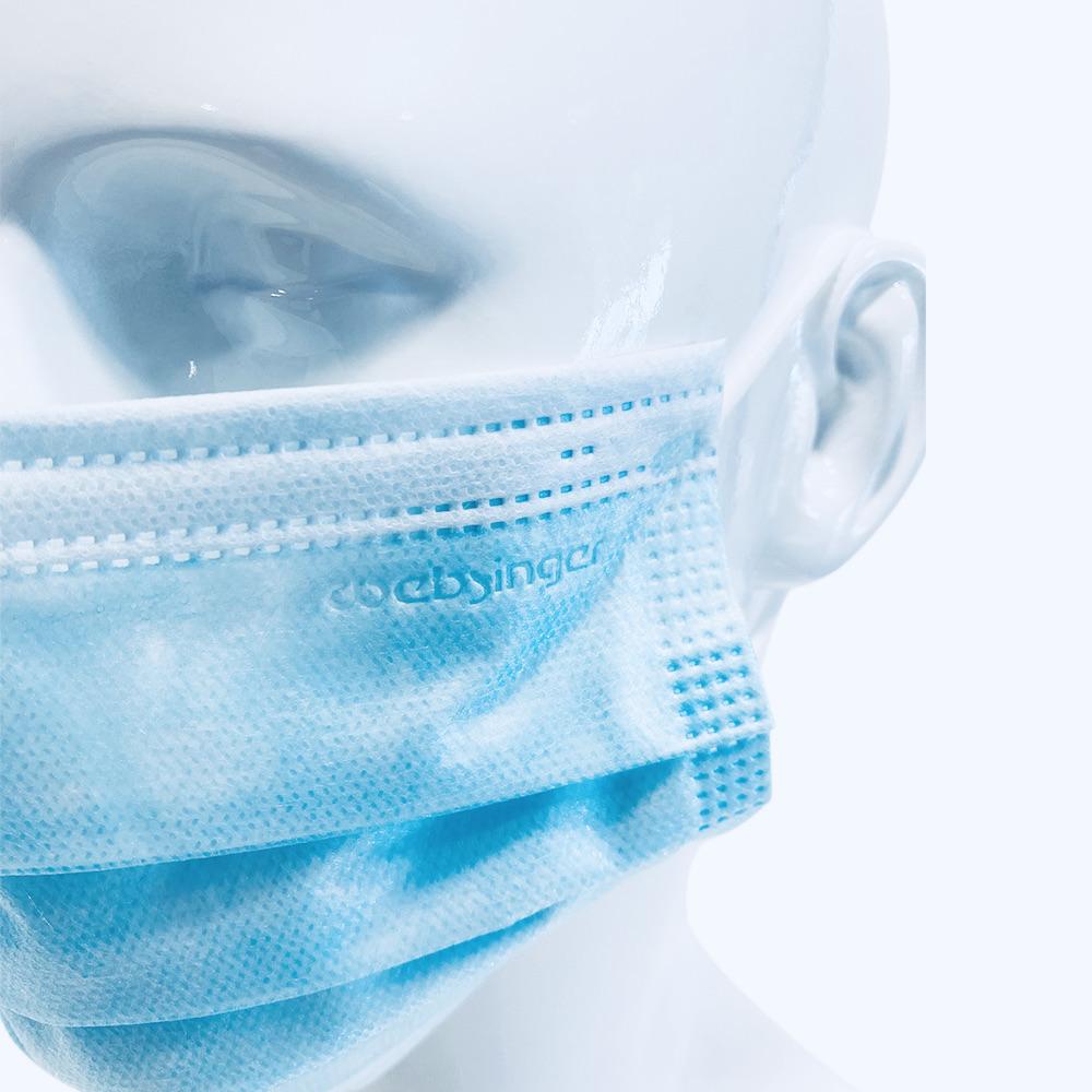 Websi-Face Mask Loop - Blau - Typ IIR - MR-tauglich  - 25 Stück - einzeln im Sachet