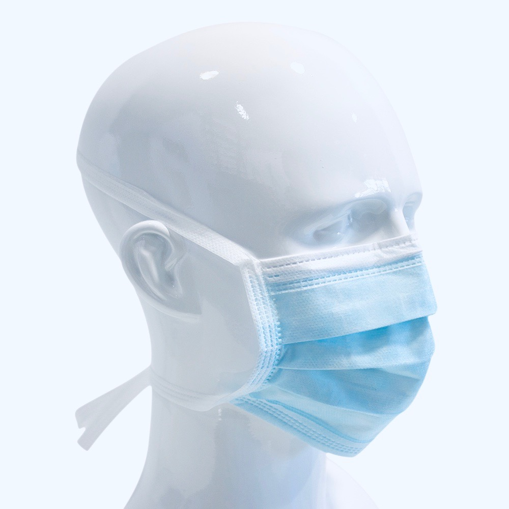 WEBSI-FACE MASK TIE ZUM BINDEN BLAU